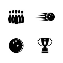 Bowling. Simple Related Vector...