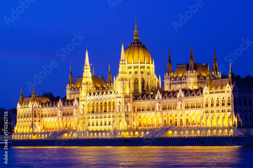 Fotografie, Obraz  Parliament of Budapest, Hungary at night
