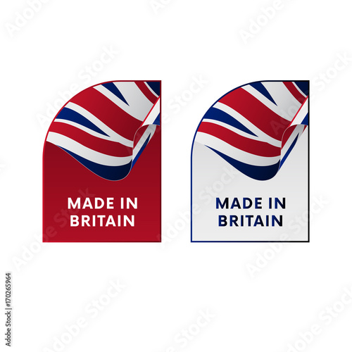 Stampa su Tela Stickers Made in Great Britain. Vector illustration.