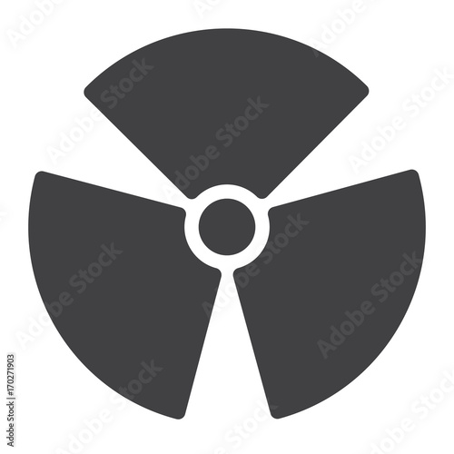 Nuclear power icon vector, filled flat sign, solid pictogram