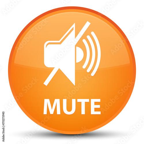 Poster Macarons Mute special orange round button