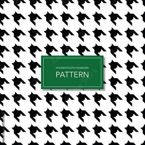 Photo  Seamless Black and White Houndstooth Vector Background