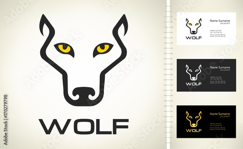 Valokuvatapetti Wolf Head silhouette. Wolf logo vector.