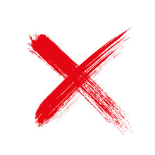 X.Grunge Letter X Cross Sign -...