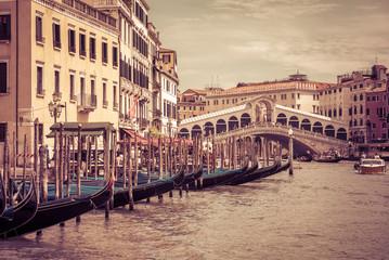FototapetaGrand Canal with the Rialto Bridge in Venice, Italy