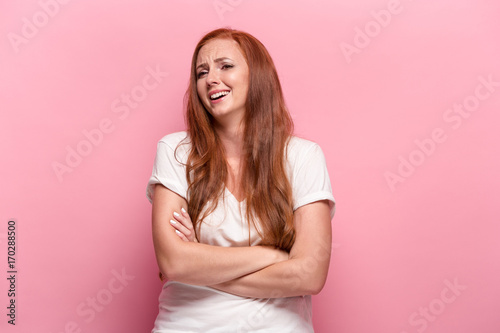 Fototapety, obrazy: Portrait of young woman with happy facial expression