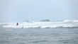 High quality video of angler by the ocean in real 1080p slow motion 250fps