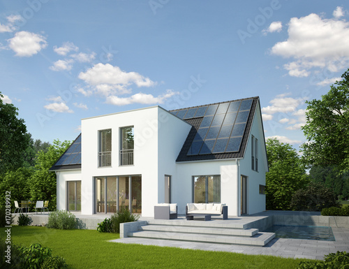 Haus Mit Kubischem Anbau Buy This Stock Illustration And Explore