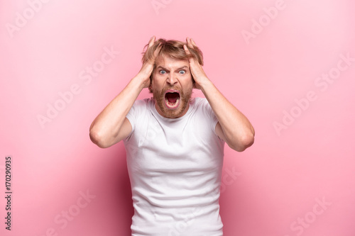 Photo  The anger and screaming man