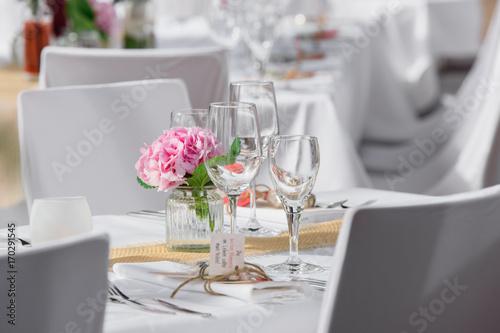 Fotografie, Obraz  Beautiful wedding reception table decoration