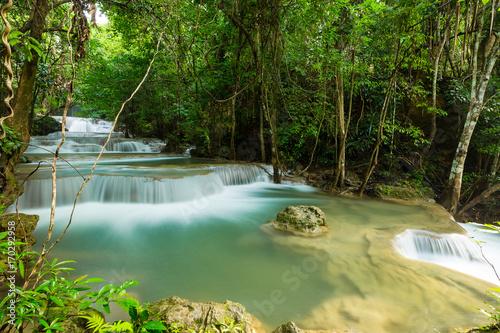 Fototapety, obrazy: beautiful waterfall in Thailand