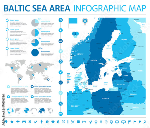 Baltic Sea Area Map - Info Graphic Vector Illustration – kaufen Sie ...
