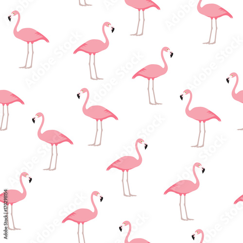 Canvas Prints Flamingo Flamingo seamless pattern