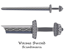 Viking Sword Decorated With Sc...