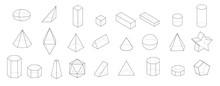Set Of Basic 3d Geometric Shap...