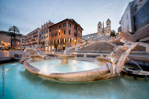 Foto op Canvas Rome Beautiful Piazza di Spagna in Rome