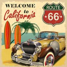 Welcome To California Retro Po...