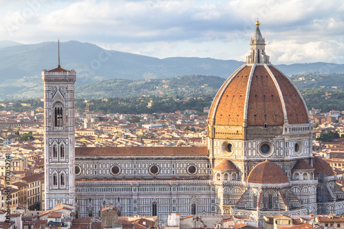 Keuken foto achterwand Florence View of the Basilica di Santa Maria del Fiore in Florence, Tuscany, Italy