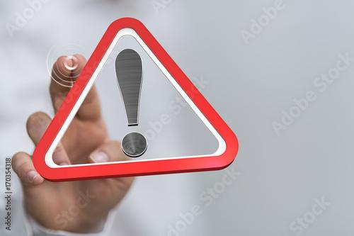Obraz danger risk - fototapety do salonu