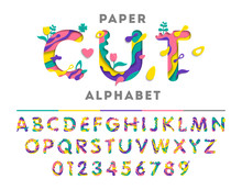 Colorful Alphabet With Abstrac...