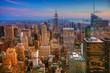 Colorful twilight scene in Manhattan