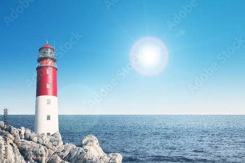 Foto op Aluminium Vuurtoren Leuchtturm Panorama