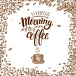 Morning begins after coffee