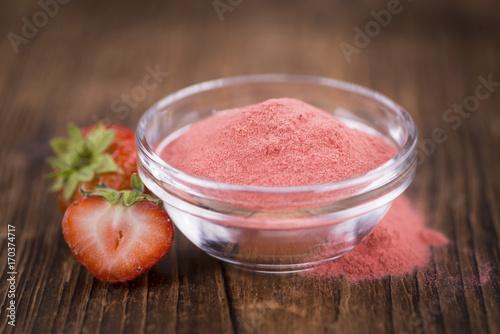Homemade Strawberry powder