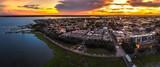 Fototapeta Tęcza - Charleston fountain from above