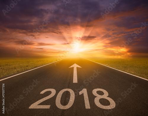 Poster Marron chocolat New Year 2018