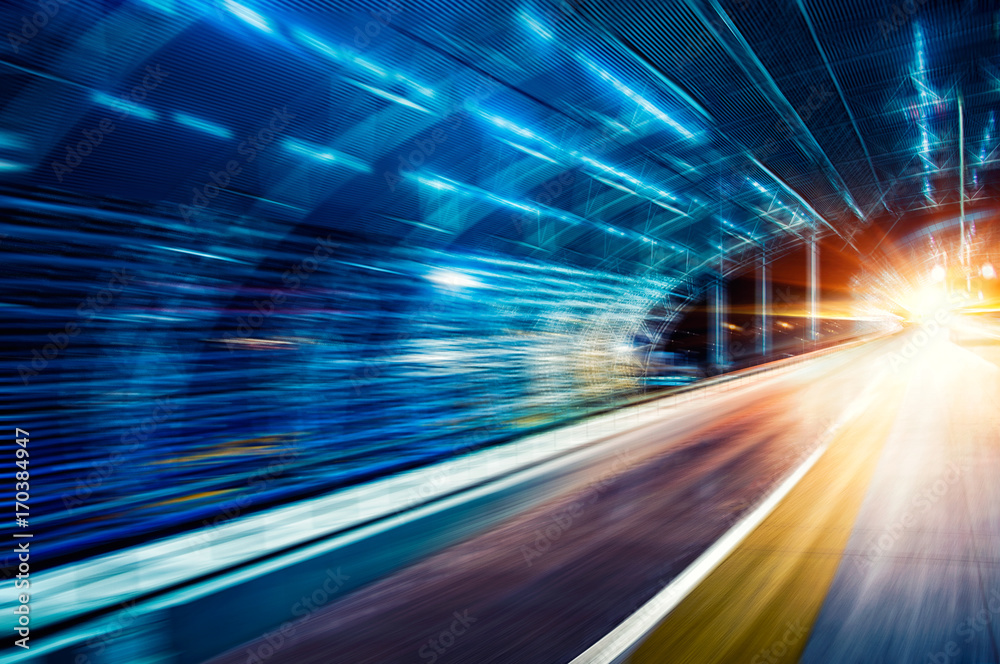 Fototapety, obrazy: Car speed, dynamic background