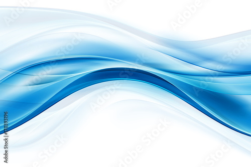 Staande foto Fractal waves Blue flowing lines background. Awesome waves backdrop.