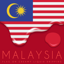 National Flag On Creamy Liquid...