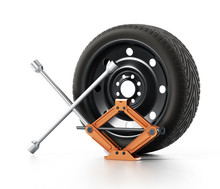 Spare Tyre, Jack And Wheel Wre...