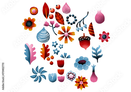 Collection of Flowers, Berr...
