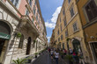View of old cozy street in Rome, Italy. Architecture and landmar