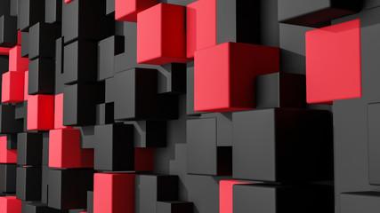 fototapeta 3D pionowe kostki