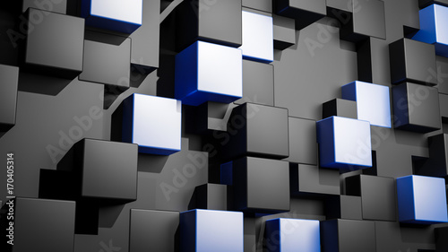 Abstract 3D cubes vertical background