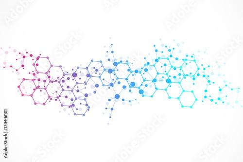 Fotografia  Structure molecule and communication