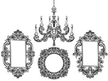 Baroque Chandelier And Mirror ...