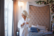 Young Woman In A Bathrobe, Int...