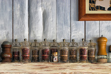 Kitchen Utensils, Herbs And Sp...