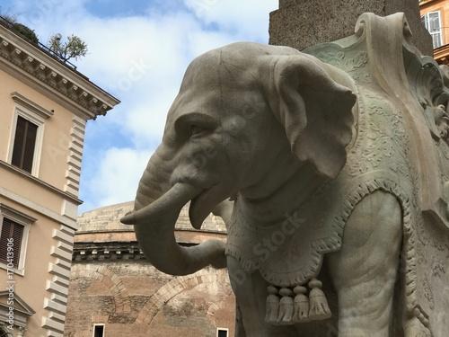 Elephant and Obelisk, Bernini, Piazza della Minerva Wallpaper Mural