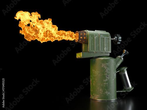 Photo Retro blowtorch fire