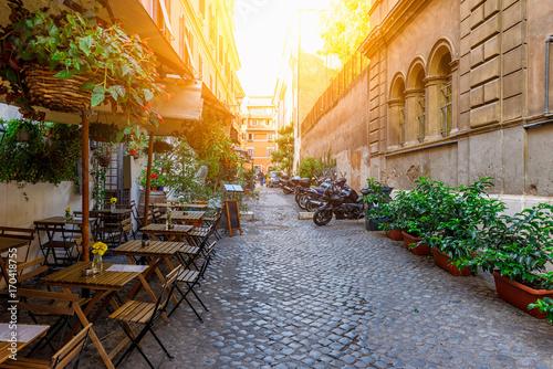 Cozy old street in Trastevere in Rome, Italy © Ekaterina Belova