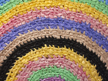 Multicolored Braided Rug