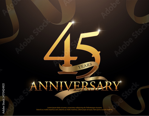 Photographie  45 year anniversary celebration logotype template