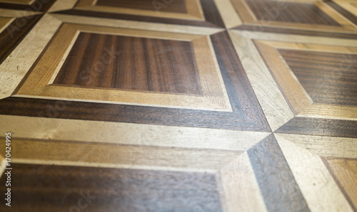 wood inlaid work of a floor for backgrounds Fototapeta