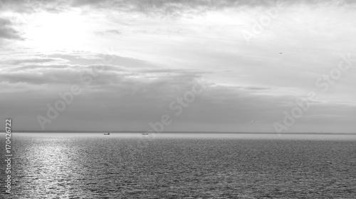 Aluminium Prints Dark grey ocean sunset on the north sea