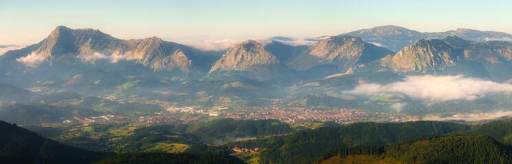 Panorama of Durango and Anboto mountain range